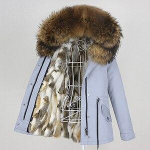 Image 5 - OFTBUY 2020 מעייל נשים אמיתי parka פרווה מעיל גדול טבעי דביבון פרווה צווארון ברדס ארנב פרווה מעיילים חם עבה