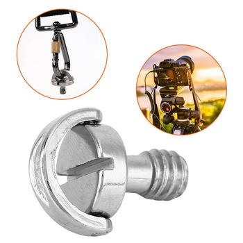 Uniwersalny D-śruba pierścieniowa śruba do kamery 1 4 Cal śruby do statyw kamery mocowanie kamery uchwyt płyta szybkiego uwalniania tanie i dobre opinie sheingka Aluminium 1299136