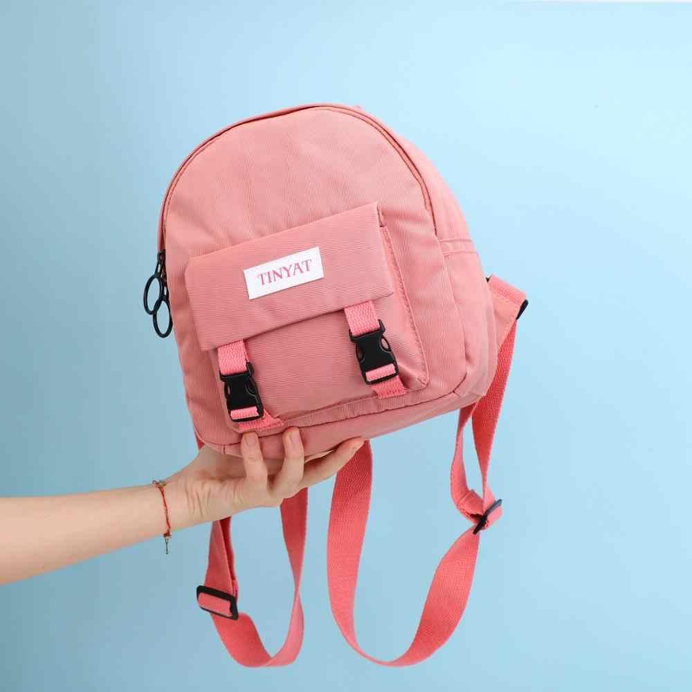 TINYAT Delle Donne Mini Zaino Coreano Ragazza Carina Bagpack Zainetto di Tela del Sacchetto di Spalla Per Le Ragazze Adolescenti di Sesso Femminile Delle Signore di Scuola Zaino