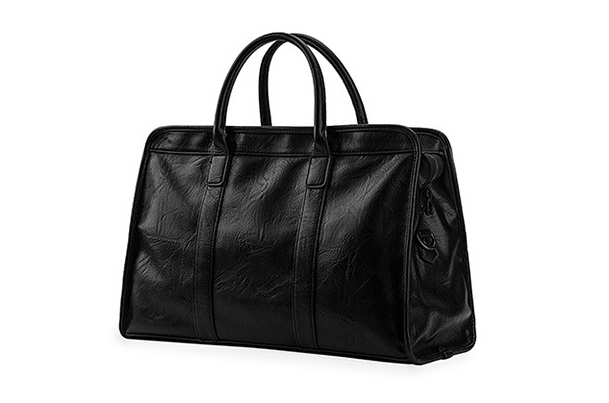 Luxury Business Concise Travel Bag City Commuter Work <font><b>Day</b></font> Partner Premium PU Leather Gym Fitness Larger Capacity Shoulder Bag image