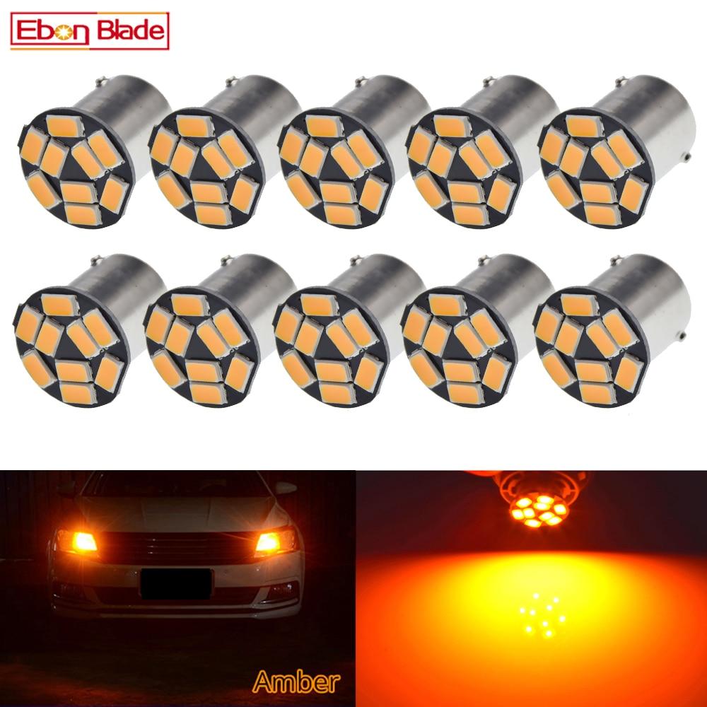10PCS PY21W BA15S Amber//Orange Indicator Turn Signal Bayonet Car Light Bulbs