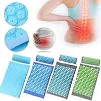 Acupressure massageador esteira relaxamento alívio do estresse tensão corpo yoga esteira aliviar o estresse do corpo dor pico almofada esteira com travesseiro & saco