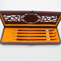 Chinese Calligraphy and Painting Practice Brushes Set with Gift Box The Four Treasures of Study Brushes Pen Set Painting Supply
