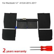 SZTWDONE A1527 A1705 New Laptop battery For APPLE MacBook 12 Inch Retina A1534 (2015 2016 2017 ) MF855 MJY32 MK4M2 7.56V 5474MAH