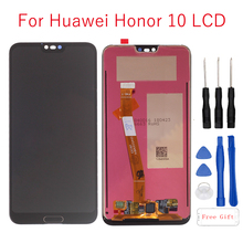 5.84Original LCD Display For Huawei Honor 10 Full Touch Screen DIgitizer for honor bkl-l04 Assembly Repair Parts