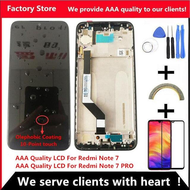 10 מגע AAA איכות LCD עבור Xiaomi Redmi הערה 7 LCD עם מסגרת תצוגת מסך עבור Redmi Note7 פרו LCD תצוגת מסך