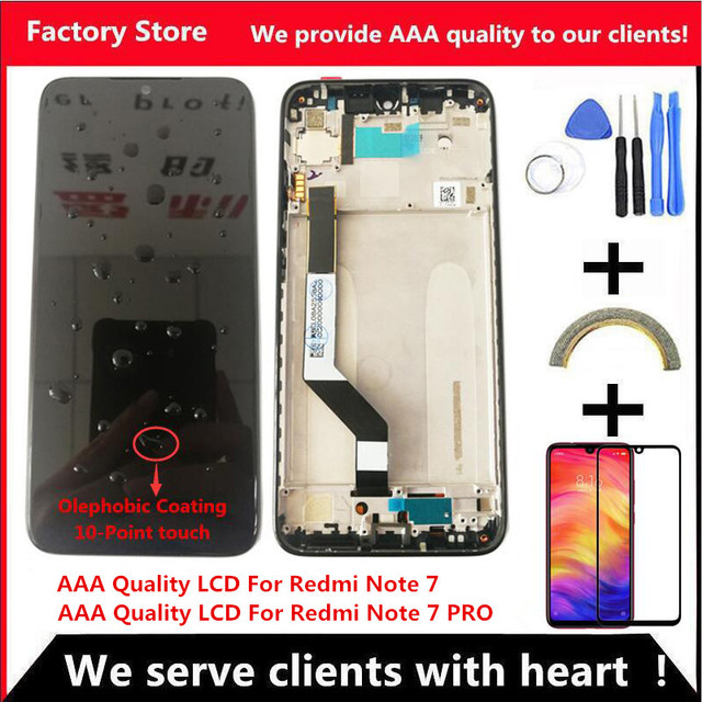 10 Touch AAA Quality LCD For Xiaomi Redmi Note 7 LCD With Frame Display Screen For Redmi Note7 Pro LCD Display Screen