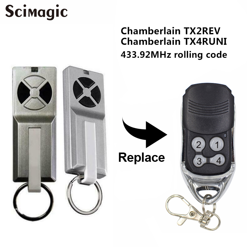 FOR Chamberlain TX2REV / Chamberlain TX4RUNI Compatible Remote Control Garage Door Opener Command Transmitter
