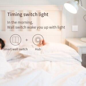 Image 3 - Aqara Interruptor de pared inteligente D1 con control remoto por voz, ZigBee, funciona con la aplicación Xiaomi Mi Home y Apple HomeKit