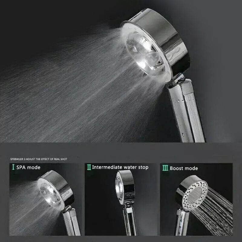 Two Sides Shower Head ABS Water Strong Boost Double-Sided Shower Head SPA Can Put Shower Gel Shower Booster Shower Head