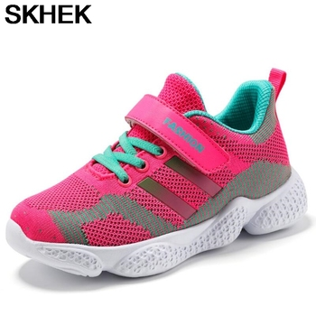 SKHEK New Autumn Kids Shoes Breathable Boys Girls Sport Shoes Children Casual Sneakers Baby Running Shoes Mesh Shoes new spring kids shoes breathable boys girls sport white canvas shoes children casual shell head sneakers baby running shoes