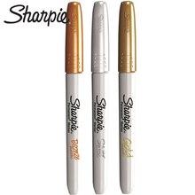 3 sztuk Sharpie metaliczny długopis Anti fading Oil marker 1962526 złoto, srebro i miedź nie blaknący Express Pen