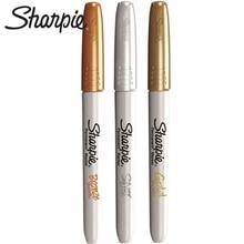 3Pcs Sharpie Metallic Mark Pen Anti Fadingน้ำมันเครื่องหมายปากกา1962526 Gold,เงินและทองแดงซีดจางExpressปากกา