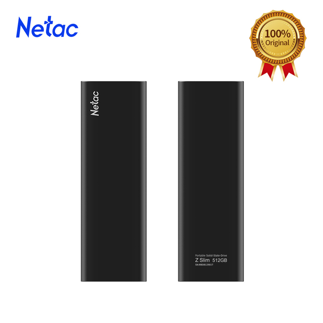 Netac ZSlim Portable External SSD 1TB 500GB 250GB SSD Hard Drive HDD Solid State Drive Type-c USB 3.1 Compatible for Laptop PC 4