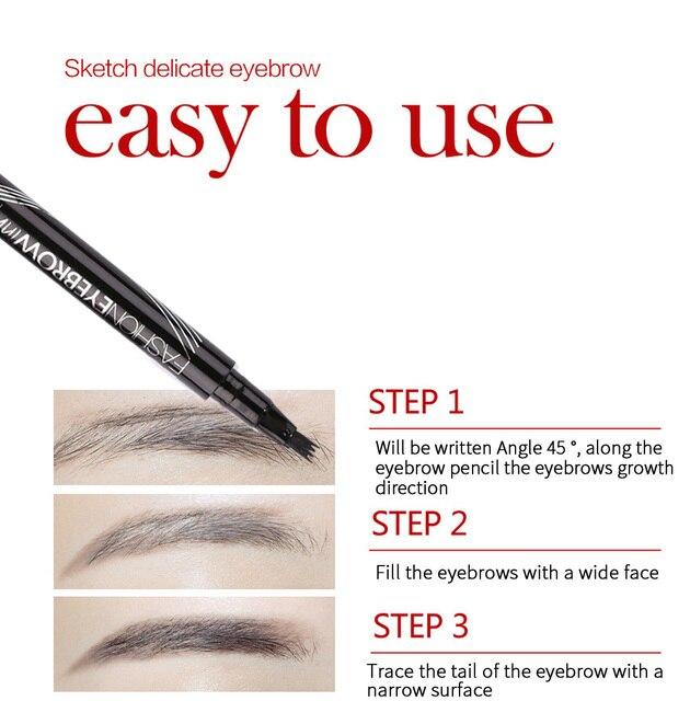 Waterproof eyebrow pencil Tattoo pen eyebrow pencil Eyebrow shadow makeup eyebrow pencil fine sketch liquid eyebrow pencil 4
