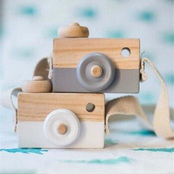 Милые Nordic дверь деревянного шкафчика висящего на Камера игрушки Дети игрушка в подарок 9,5*6*3 см номер Декор предметы мебели деревянные игруш...