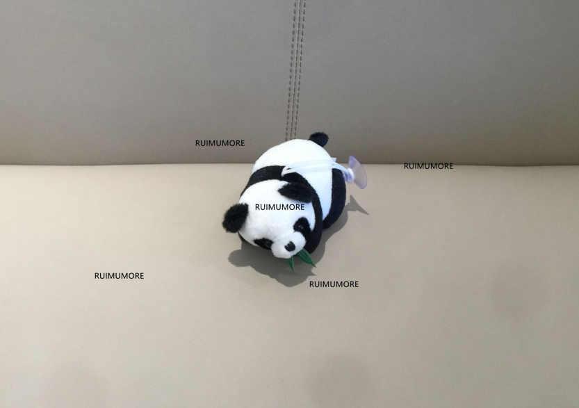 2 projetos, doce NOVO 8CM Aprox. PRETO Panda Brinquedo Para O Partido, Dom Animal Panda De Pelúcia Acessórios da boneca Brinquedos de Pelúcia