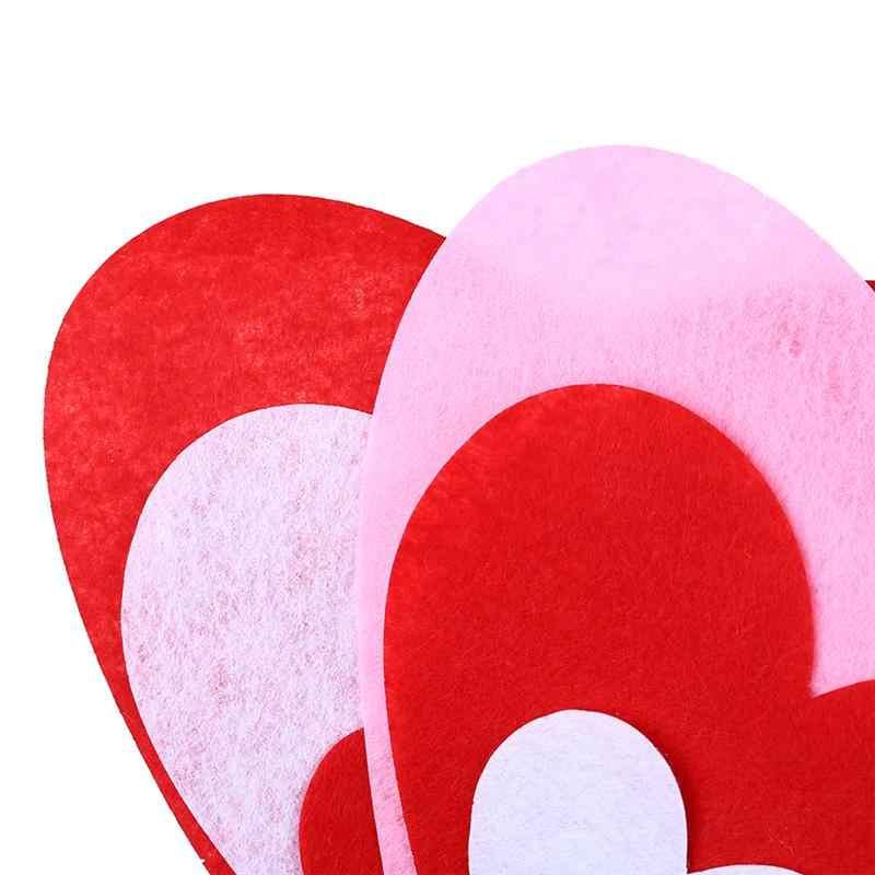 20 قطعة Flower بها بنفسك زهرة وعاء صنع الشريط على شكل قلب طقم ديكور الإبداعية ورأى القماش لتقوم بها بنفسك زهور اكسسوارات للمنزل مقهى ديكور