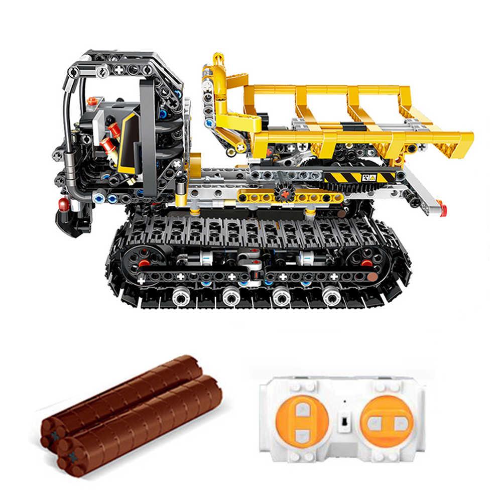 13035 774 Pcs Teknik Kota Kemuliaan Aplikasi Remote Control RC Konstruksi Truk Pemadam Mobil Blok Bangunan Batu Bata Mainan Hadiah untuk anak