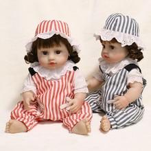45CM Bebe Reborn Dolls Full Body Silicone Doll Toys For Girls Waterproof Lifelike Baby Reborn Dolls New Born Gifts For Birthday the latest 22 55cm silicone reborn baby dolls best gift 100 safe and lifelike simulation baby dolls newborn for kid brinquedos