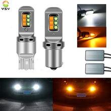 Intermitentes DRL para correr, bombillas LED Canbus de doble Color, 3535, 12SMD, P21W, PY21W, BAU15S, ba15s, 1156, WY21W, W21W, 7440, 2 uds.