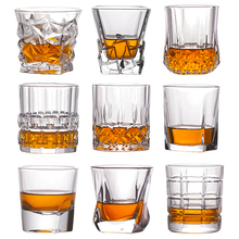 Shot Whiskey Crystal Glass Party Wedding Wine Liquor Glass Coffee Tea Cup for Beer Spirits Funny Glasses European Creative Gifts
