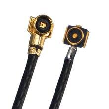 Cabo pigmentador coaxial, 2 peças rf ipx ipex mhf4 macho para mhf 4 fêmea 0.81mm cabo de pigmento jumper 10cm 50 cabo de antena cm para cartão m.2 roteador wifi