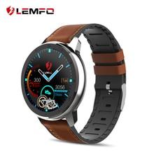 LEMFO ELF2 PPG+ ЭКГ Смарт-часы 1,3 дюймов полный круглый сенсорный экран 360*360 HD разрешение чехол из нержавеющей стали сменный ремешок