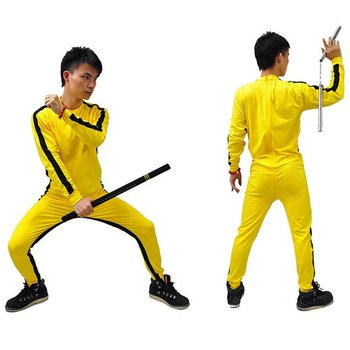Jeet Kune Do Game of Death Costume Jumpsuit Bruce Lee Classic Yellow Kung Fu Uniforms Cosplay JKD for Kid Adults Wushu Uniforms detective conan magic kaito kid the phantom thief uniforms cosplay costume 7 lot