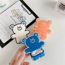 Earphone Case For AirPods Case 3D Cartoon Bear Silicone Cover for Apple Airpods 2 Cute Earbuds Bag f