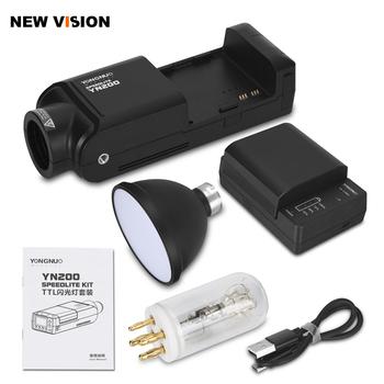 YONGNUO YN200 TTL HSS 2 4G 200W litowa bateria z usb typu C kompatybilny YN560-TX (II) YN560-TX Pro YN862 dla Canon Nikon tanie i dobre opinie