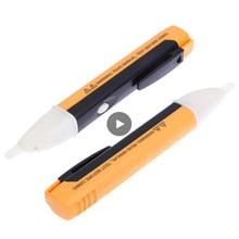 Indicador elétrico 90-1000v tomada de parede ac power outlet detector de tensão sensor tester caneta led luz elétrica sensor teste lápis