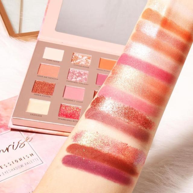 FOCALLURE New Sunrise Eye Shadow Palette Glitter Matte Pigment Eyeshadow Loose Powder Luxury Quality Eyeshadow 2