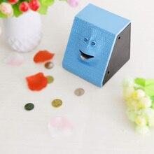 Plastic Face Bank Human Face Smart Sensor Piggy Bank Electric Coin Can Eat Money Face Piggy Bank Store Coins