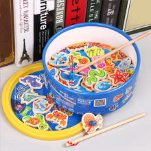 40pcs Children Number Letter Magnetic Fishing Game Children's Game Magnet Fish Toy Game Educational Developing Toys For Children wooden magnetic educational intelligence development fishing game kids toys magnet fish kid educational toy go fishing game w201