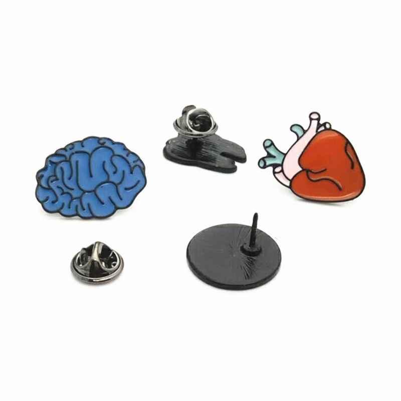 Corpo umano Spille Cervello Occhi Dente Spilla Accessori Commercio All'ingrosso Spille Distintivo per I Regali per Bambini 634D