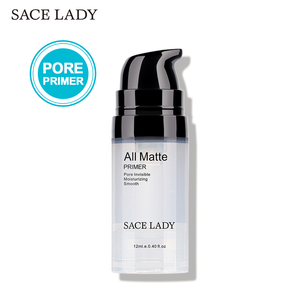 SACE LADY Face Base Primer Makeup Liquid Matte Make Up Fine Lines Oil-control Facial Cream Brighten Foundation Primer Cosmetic image