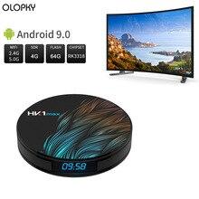 Smart TV BOX HK1 MAX 4G 64G Android 9.0 Mini Smart TV Box 2.4G/5G Wifi RK3318 Quad-Core BT 4.0 Set Top Box Media Player HK1MAX