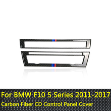 цена на For BMW F10 5 Series 2011-2017 Interior Trim Carbon Fiber Air Conditioning CD Control Panel Cover Trim Car Styling  Accessories