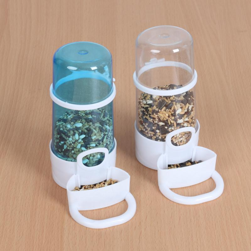 Automatic Pet Food Feeder Water Feeder Hamster Rabbit Bird Small Animal Water Bottle Automatic Parrot Feeder Bird Drinker