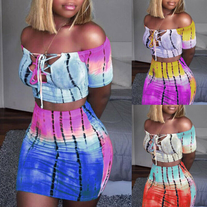 Hot Two Piece Fashion New Brand Womens Crop Tops+Skirt Sets Ladies Casual Sexy Party Club Wear 2019 Autumn Girls Clothes