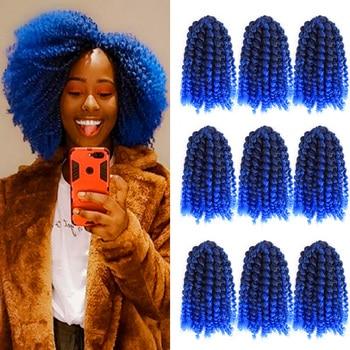 Short 8' Jerry Curl MarleyBoB Braids Crochet Hair Synthetic Ombre Jerry Curl Weave Synthetic Braiding Hair Extensions for Women кошелек rip curl rip curl mp002xm1zc6k