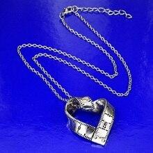 pendant necklace for women men heart ruler shape pattern charm Alloy Neck Decoration Jewelry
