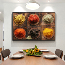 Kitchen Theme Canvas Paintings On the Wall Art Posters And Prints Spices For Cooking Canvas Pictures For Kitchen Room Cuadros kitchen theme wall poster and prints various seasonings canvas art paintings on the wall canvas art pictures cuadros decoration