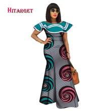Женское платье с оборками bazin Черное длинное макси Африканским