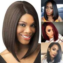 13 Bob Wig Peruvian Straight Human Hair Wigs For Black Women Remy Pre Plucked Short