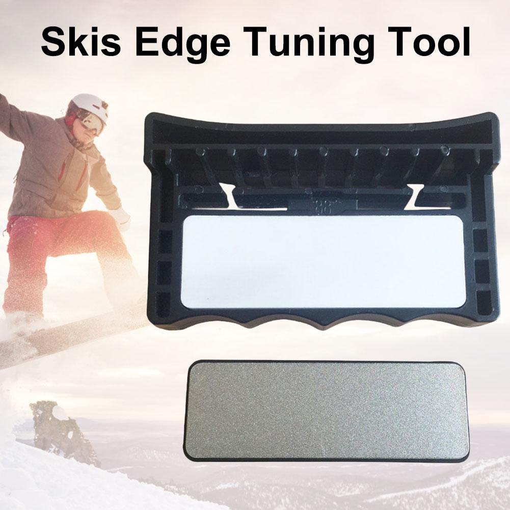 Fixed-angle Skis Edge Tuning Tool Double-sided Whetstone Perfect Gift For Skiers