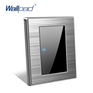 New Arrival Wallpad Luxury LED Light Switch Wall Switches Acrylic Panel Sockets One-side Click Button Interrupteur AC110~250V