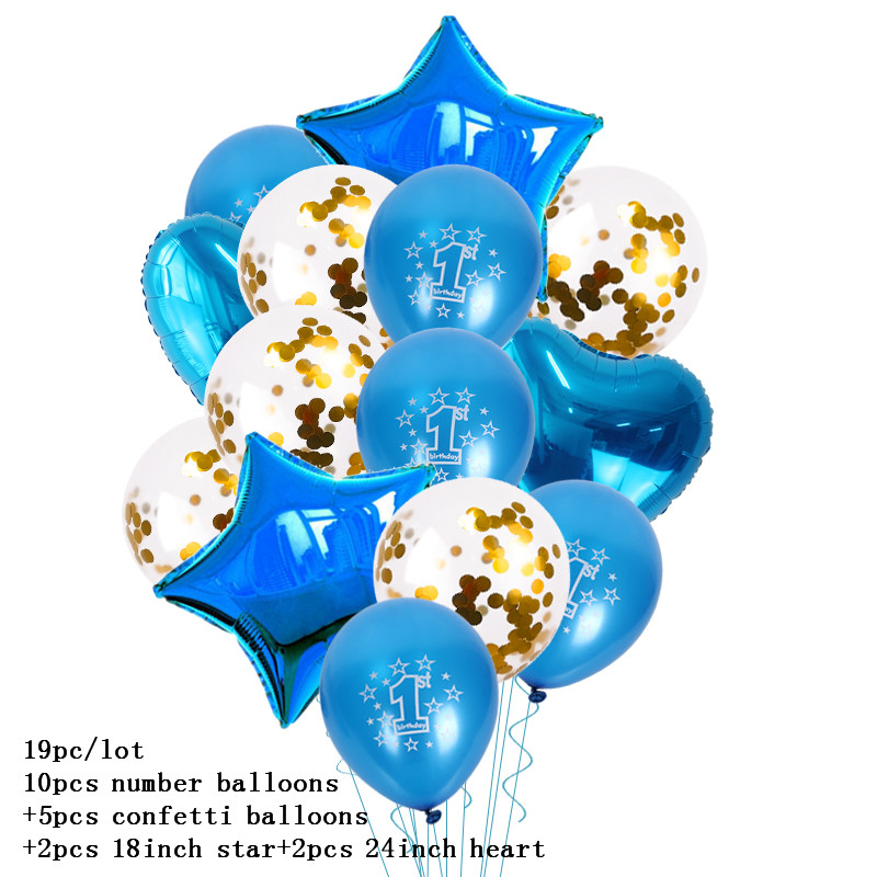 2Pcs Baby Shower Multiple Aluminum Foil Helium Balloons Birthday Party Decor