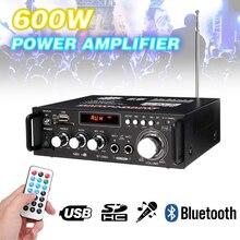 600 Вт усилители мощности аудио усилители Bluetooth Сабвуфер FM SD Мини HIFI Усилители мощности для автомобиля домашний кинотеатр звуковая система